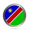 Namibia flag button vector image vector image