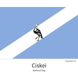 National flag of Ciskei with correct proportions vector image vector image