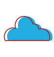 nice cloud shape to sky weather vector image vector image