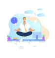 office worker meditating flat vector image
