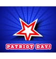 patriot day september 11 waving flag vector image vector image