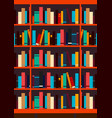 poster book shelf or bookcase background vector image
