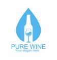 pure wine logo design template vector image vector image