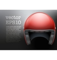 Red Motorcycle helmet vector image