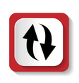 rotation icon refresh sign vector image vector image