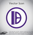 ruler and protractor characters geometry vector image vector image