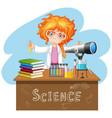 scientist working with science tools in lab vector image