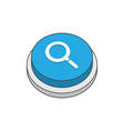 search magnifier sign pictogram vector image