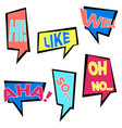 set of six cartoon comic balloon speech bubbles vector image