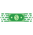 sign symbol investment dollar money bill movement vector image vector image