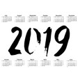 sketched new year 2019 greeting card calligraphy vector image