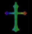 spectrum dot christian cross icon vector image vector image