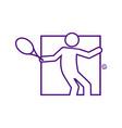 square shape tennis sport figure outline symbol vector image