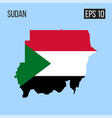 sudan map border with flag eps10 vector image