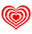 target in the form of red hearts vector image vector image