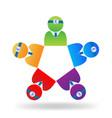 teamwork medical people logo vector image vector image