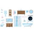 toiletries set furniture sanitation equipment vector image