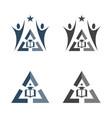 university education logo vector image vector image