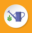 watering can icon in flat style on round button vector image vector image