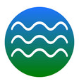 waves sign white icon in vector image vector image