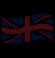 waving british flag mosaic of cloud items vector image vector image