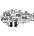 what is the aarp text word cloud concept vector image vector image