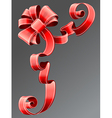 red ribbon EPS10 vector image