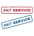 24-7 Service Rubber Stamps vector image vector image