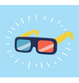 3d glasses on white background vector image