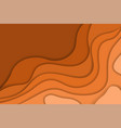 abstract orange wavy paper cut background vector image vector image