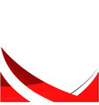 abstract red line color white background im vector image