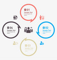 abstract with speech bubble modern infographic vector image vector image