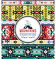 american indian ornate pattern design tribal vector image