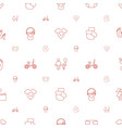 baby icons pattern seamless white background vector image vector image