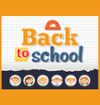 back to school angle ruler and notebook sheet vector image vector image