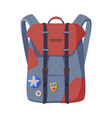 backpack for schoolchildren or students front vector image vector image