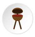 bbq party grill icon circle vector image vector image