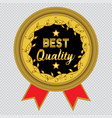 best quality icon with transparent background vector image vector image