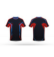 black orange and blue layout e-sport t-shirt vector image vector image