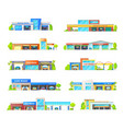 car wash and garage station service buildings vector image vector image