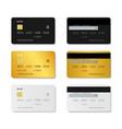 card credit mockup plastic debit set vector image vector image