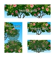 Cards of the pattern tree rose for business needs vector image