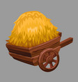 cart with hay vector image