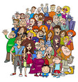 cartoon people group in the crowd vector image vector image
