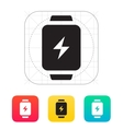 Charge sign in smart watch icon vector image
