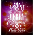 christmas background with typographic design vector image vector image