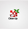 clean window logo template icon element vector image