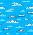 clouds seamless background weather and outdoors vector image