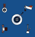 collection of icons and vehicle parts in hatching vector image vector image