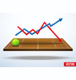 Concept of statistics about the game of tennis vector image vector image